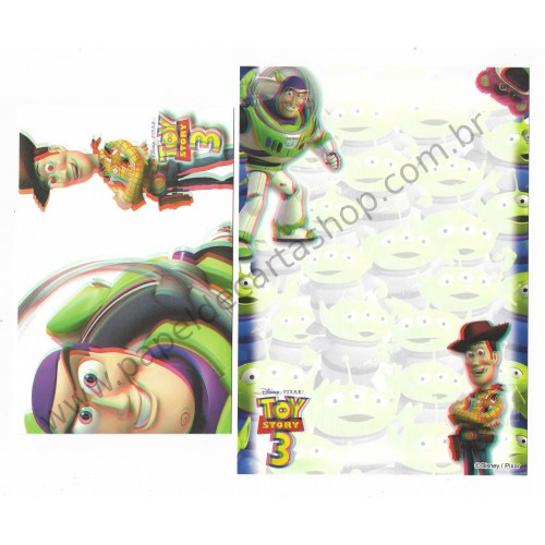Conjunto de Papel de Carta Disney/Pixar Toy Story 3D (II)