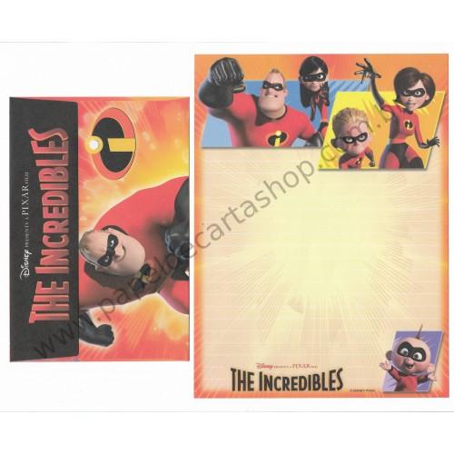 Conjunto de Papel de Carta Disney/Pixar The Incredibles