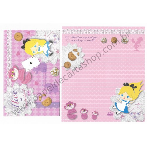 Kit 2 Conjuntos de Papel de Carta Disney Alice (CLL)