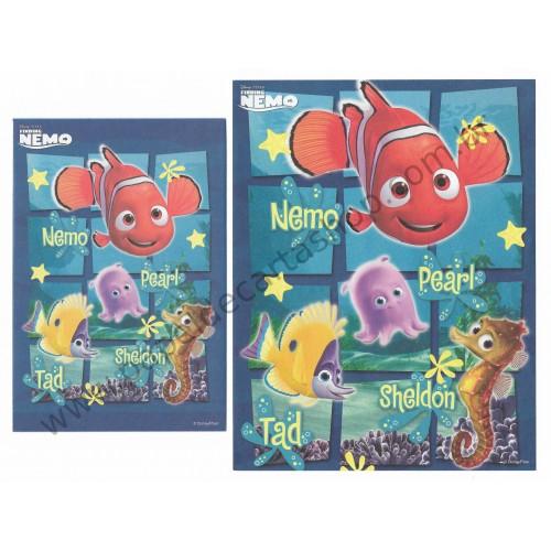 Conjunto de Papel de Carta Disney/ Pixar Finding Nemo