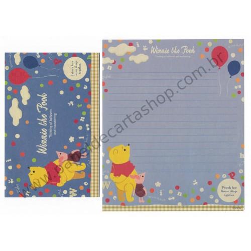 Conjunto de Papel de Carta Disney Winnie The Pooh Balloons (CAZ)