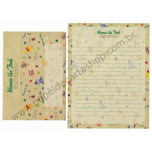 Conjunto de Papel de Carta Disney Winnie The Pooh Balloons (CBG)