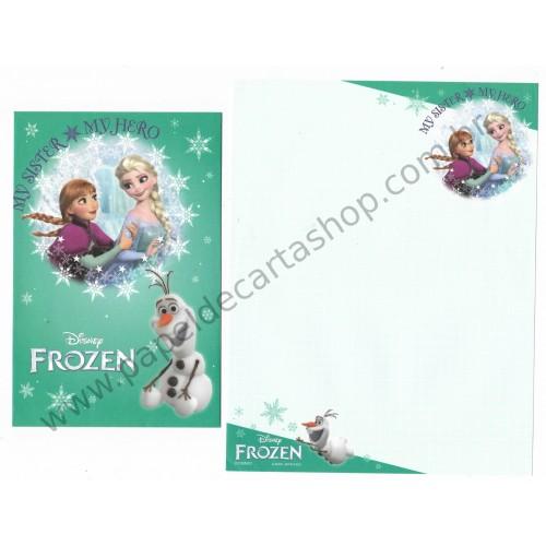 Conjunto de Papel de Carta Disney Frozen - My Hero