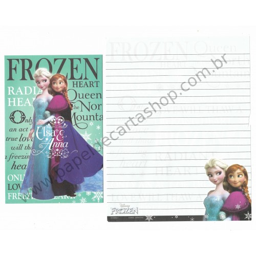 Conjunto de Papel de Carta Disney Frozen - Elsa & Anna My Hero