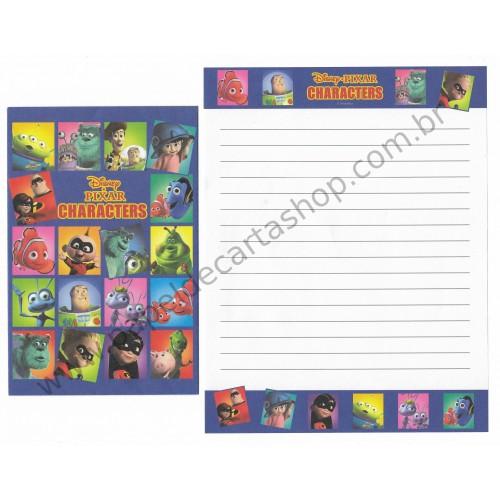 Conjunto de Papel de Carta Disney/Pixar Characters (CAZ)