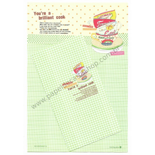 Conjunto de Papel de Carta Importado Brilliant Cook - Morning Glory