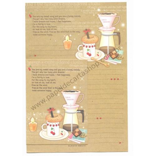 Conjunto de Papel de Carta Importado Cappuccino - YM
