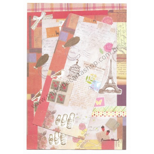 Conjunto de Papel de Carta Importado Instructions - F Hand