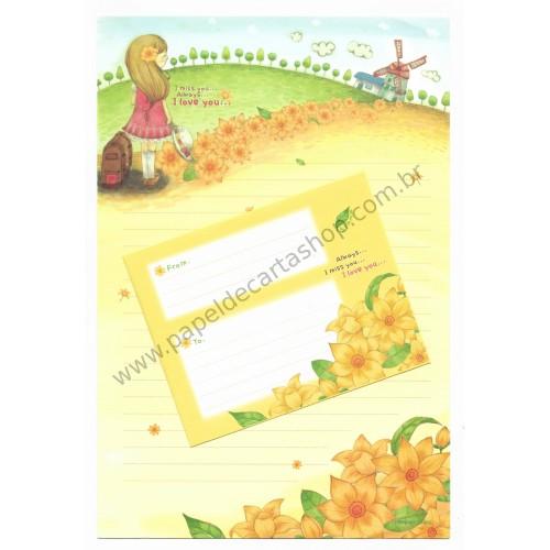 Conjunto de Papel de Carta Importado I Miss You - i-Neu