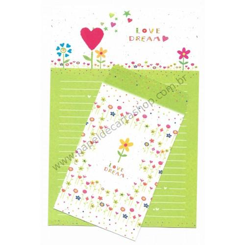 Conjunto de Papel de Carta Importado Love Dream - NL