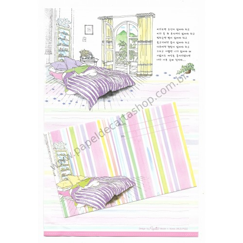 Conjunto de Papel de Carta Importado Bedroom - Papier