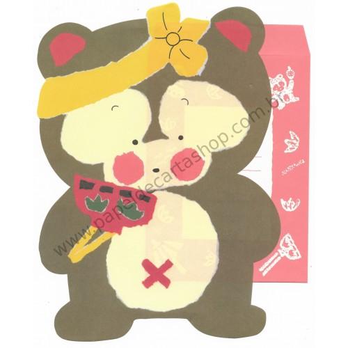 Conjunto de Papel de Carta Antigo (Vintage) BEAR - Japan