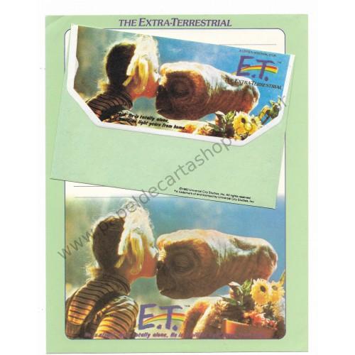 Ano 1982. Conjunto de Papel de Carta E.T. The Extra-Terrestrial CVD - Universal