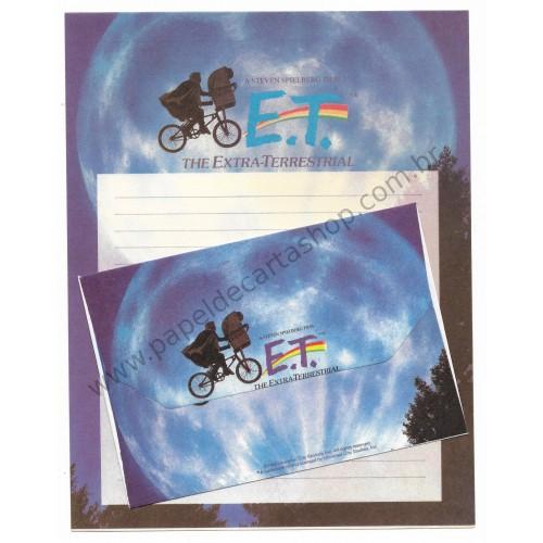 Ano 1982. Conjunto de Papel de Carta E.T. The Extra-Terrestrial CAZ - Universal