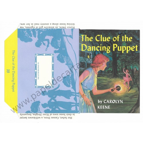 Ano 2005. Papel de Carta The Clue of the Dancing Puppet by Carolyn Keene