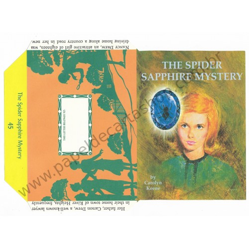 Ano 2005. Papel de Carta The Spider Sapphire Mystery by Carolyn Keene