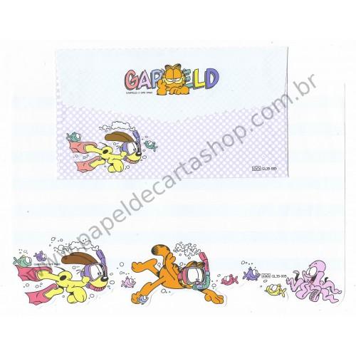 Ano 1978. Conjunto de Papel de Carta Antigo Importado Garfield CAZ - Paws