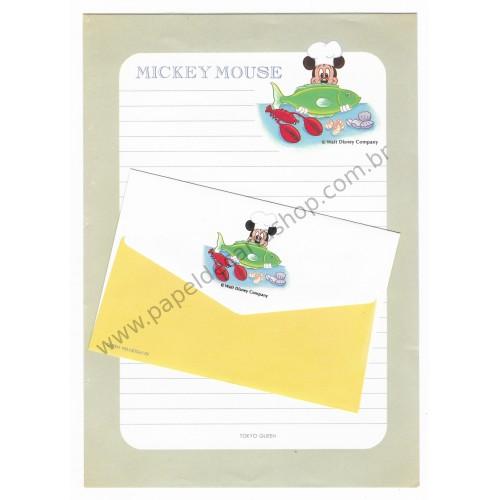 Conjunto de Papel de Carta VINTAGE Disney - Mickey Mouse