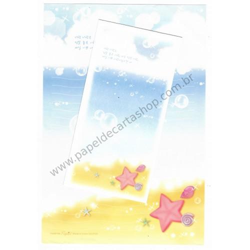 Conjunto de Papel de Carta Importado Beach - Papier