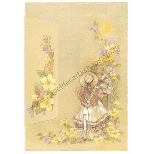 Conjunto de Papel de Carta Antigo Romeu & Julieta 02