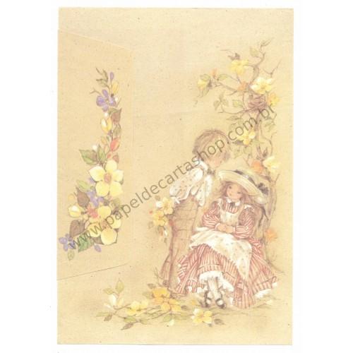 Conjunto de Papel de Carta Antigo Romeu & Julieta 03