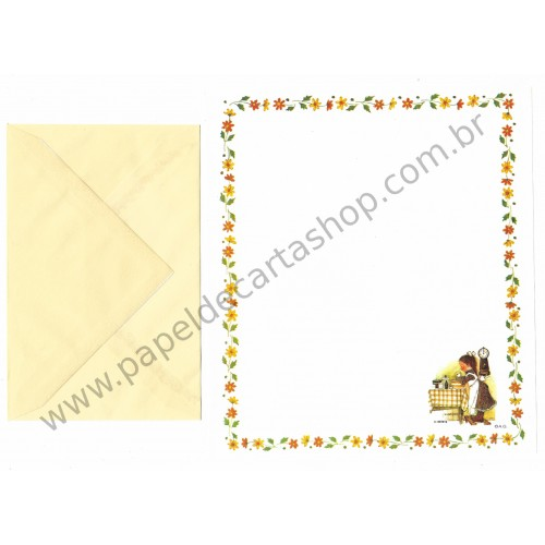 Conjunto de Papel de Carta ANTIGO Holly Hobbie M38