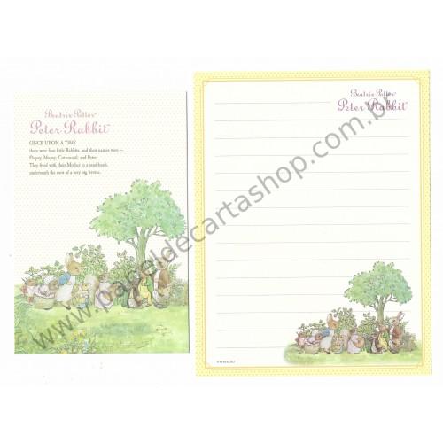 Conjunto de Papel de Carta Importado Peter Rabbit 04