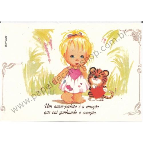 Papel de Carta Antigo Amor Perfeito - Love Print 202