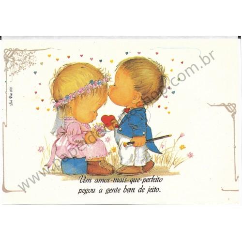 Papel de Carta Antigo Amor Perfeito - Love Print 203