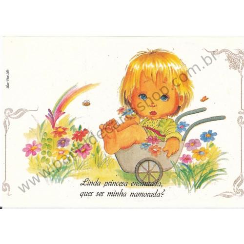 Papel de Carta Antigo Amor Perfeito - Love Print 206