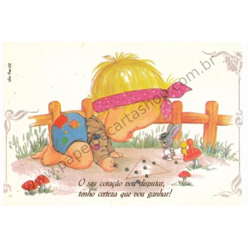Papel de Carta Antigo Amor Perfeito - Love Print 208