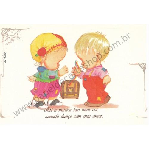 Papel de Carta Antigo Amor Perfeito - Love Print 210