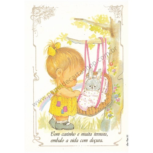 Papel de Carta Antigo Amor Perfeito - Love Print 213