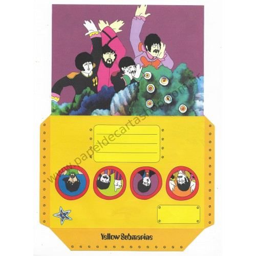 Papel de Carta Beatles Yellow Submarine III