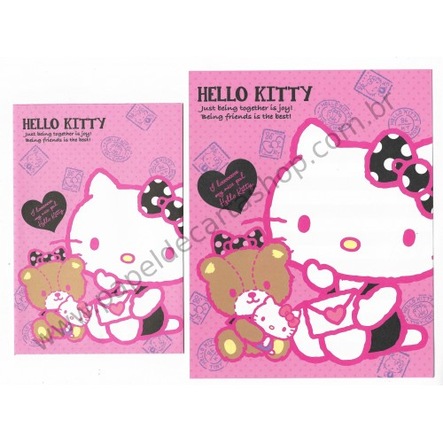 Ano 2013. Conjunto de Papel de Carta Hello Kitty Being Together Sanrio