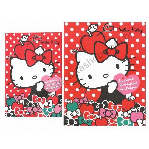 Ano 2013. Conjunto de Papel de Carta Hello Kitty La Pomme Sanrio