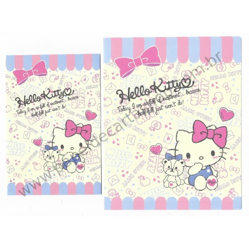 Ano 2015. Conjunto de Papel de Carta Hello Kitty Full of Excitement Sanrio