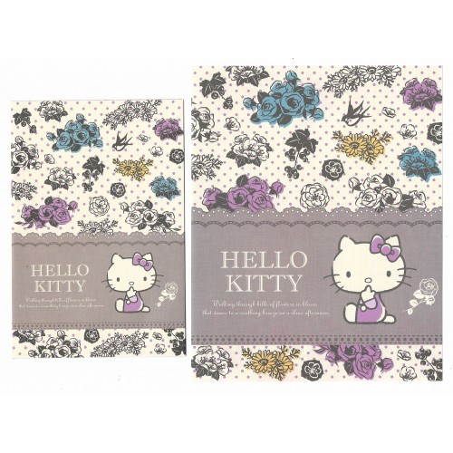 Ano 2014. Conjunto de Papel de Carta Hello Kitty Flowers in Bloom Sanrio