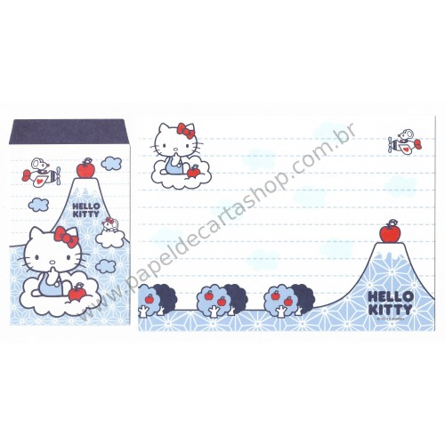 Ano 2013. Conjunto de Papel de Carta Hello Kitty Made In Japan (CAZ) Sanrio
