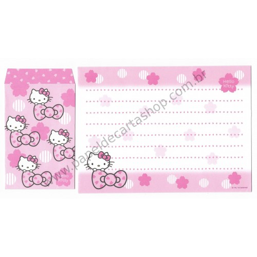 Ano 2013. Conjunto de Papel de Carta Hello Kitty Made In Japan (CRS) Sanrio