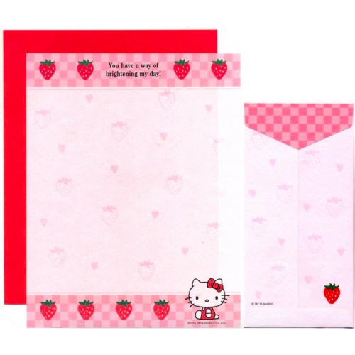 Ano 2014. Conjunto de Papel de Carta Hello Kitty Made In Japan (STR) Sanrio