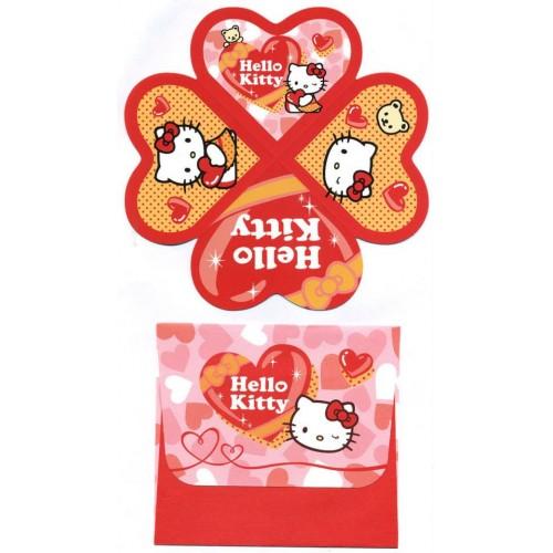 Ano 2007. Cartão Hello Kitty Valentines Sanrio