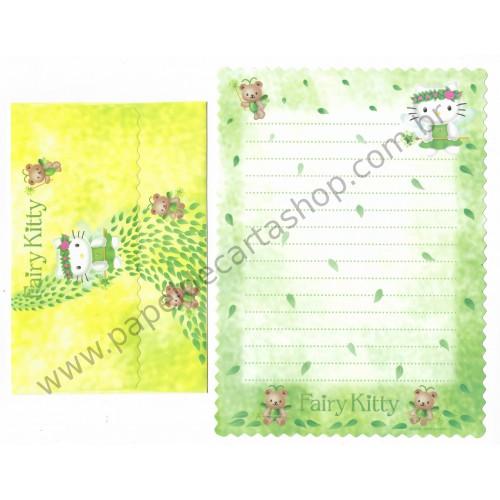 Ano 2000. Conjunto de Papel de Carta Hello Kitty Fairy Kitty CAM Antigo (Vintage) Sanrio