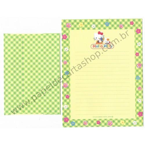 Ano 1999. Conjunto de Papel de Carta Hello Kitty CAM Antigo (Vintage) Sanrio