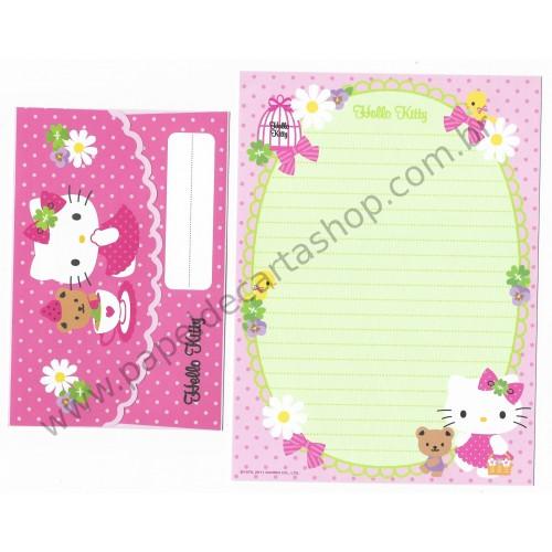 Ano 2011. Conjunto de Papel de Carta Hello Kitty FTM1 Sanrio