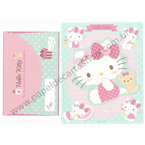 Ano 2015. Conjunto de Papel de Carta Hello Kitty Dupla II Sanrio