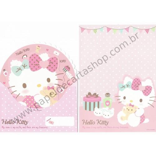 Ano 2015. Conjunto de Papel de Carta Hello Kitty Dupla I Sanrio
