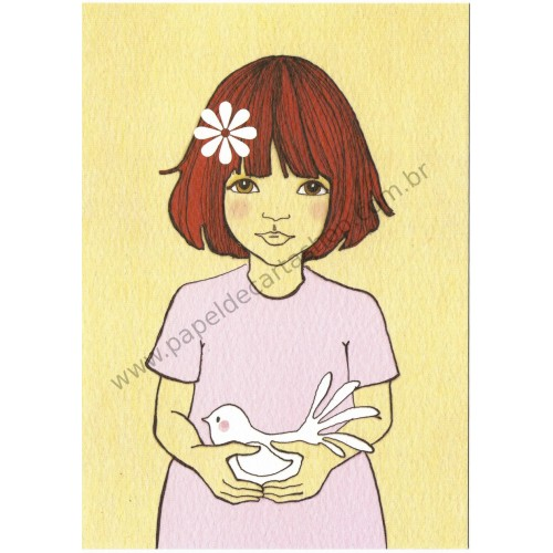 Cartão Postal Peace Pink - Belle & Boo