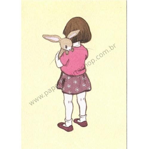 Cartão Postal Belle Hugs Boo - Belle & Boo
