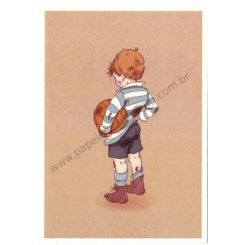 Cartão Postal Football - Belle & Boo